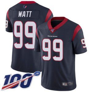Mens Texans J.J. Watt 100th Season Jersey